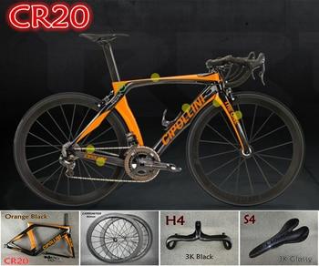 2018 MCipollini RB1K A UMA Laranja-Preto Completo Bicicleta de estrada de carbono Cipollini bicicleta com 105 groupset R7000 para a seleção