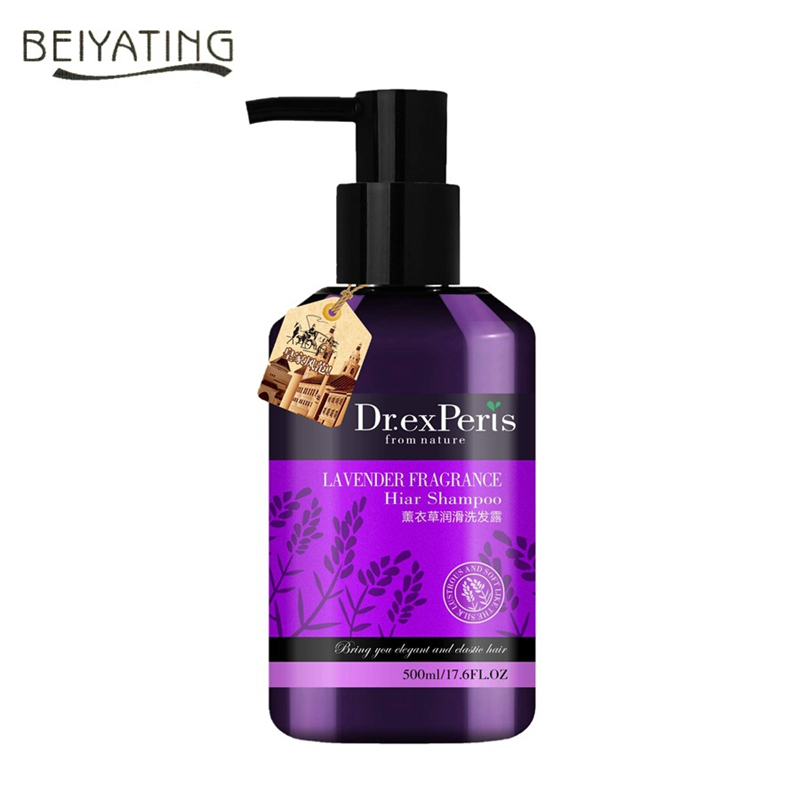 Pure Natural Lavender Shampoo Refreshing Oil Control Anti Dandruff Improve Itchy Scalp Professional Hair Care Product 500ml