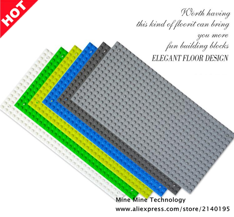 Double Horses 2018 hot sale 16*32 Dots Small Blocks Base Plate Building Blocks DIY Baseplate Compatible another Blocks 16x32 new big size 40 40cm blocks diy baseplate 50 50 dots diy small bricks building blocks base plate green grey blue