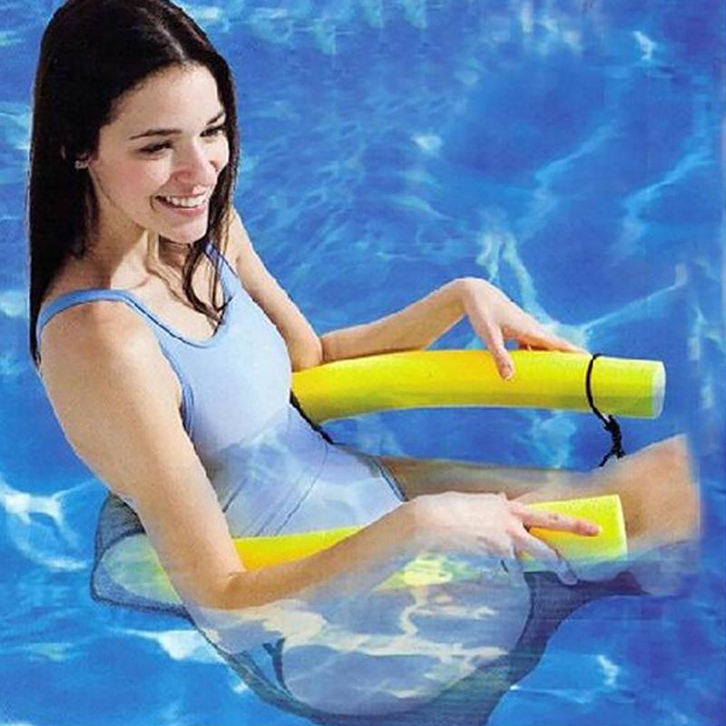 Soft Floating Pool Noodle Sling Mesh Chair for Kids Children Adults Swimmming Travel Water Supplies
