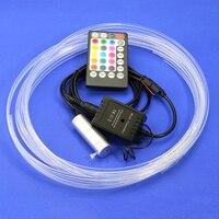 DC12V 2W Led Light Source RGB Mini Illuminator LED Emitter 3mm*5M Side Glow Fiber Optic Cable for car interior step decoration