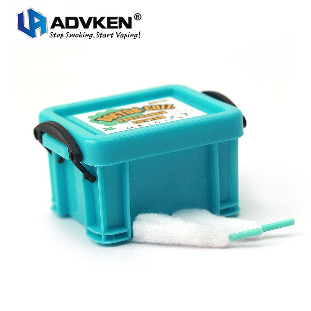100% Original Advken Arzt Spule Werksdaten Baumwolle aus 129A Organische für Elektronische Zigarette Vaping Tank DIY Spule Gebäude