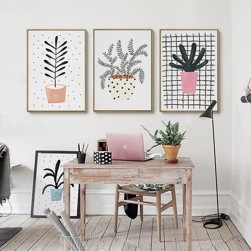 Kawaii Cute Plant Flowers Poster Print Modern Nordic ...