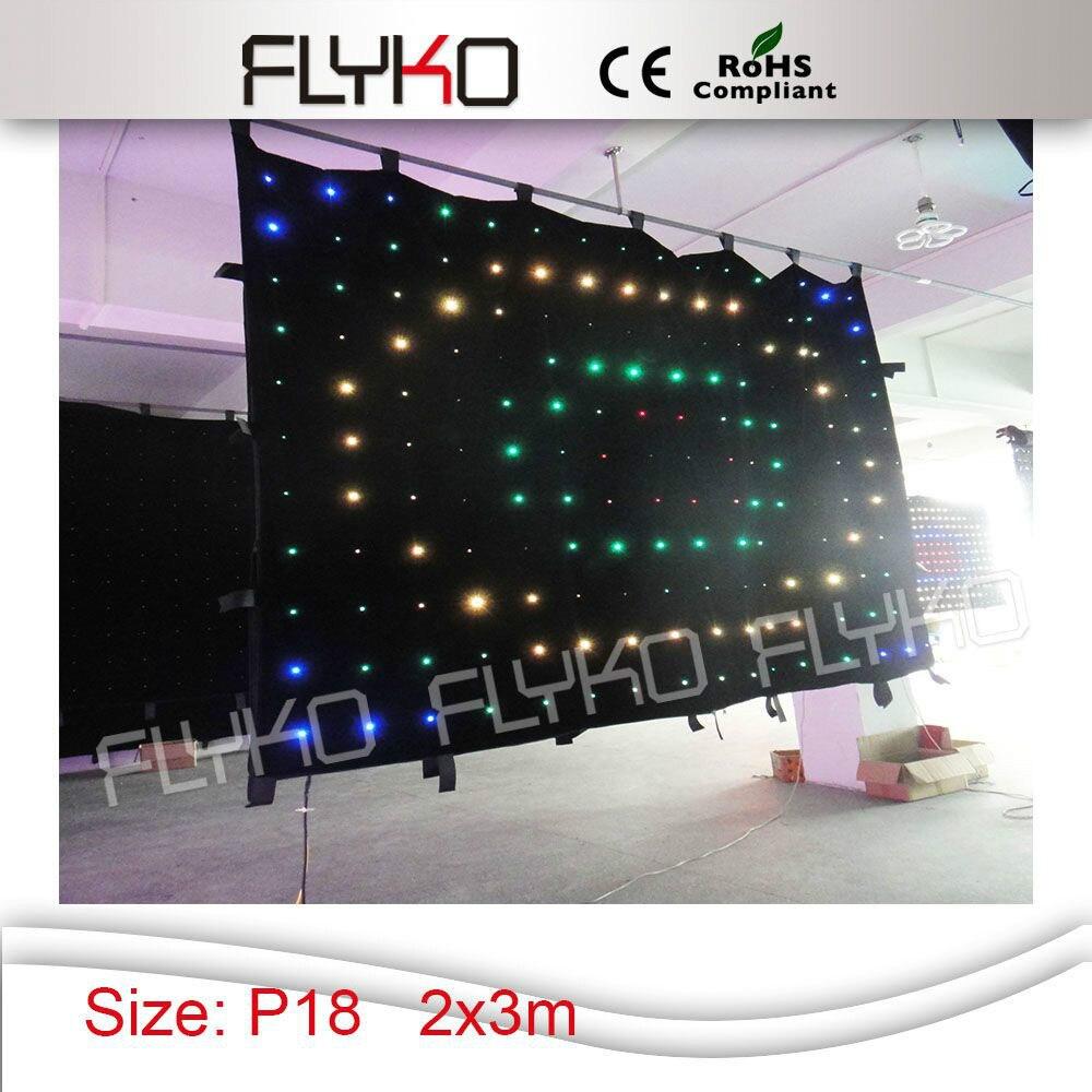 Programmable LED Vision Curtain SD card + control DJ backdrop +power box