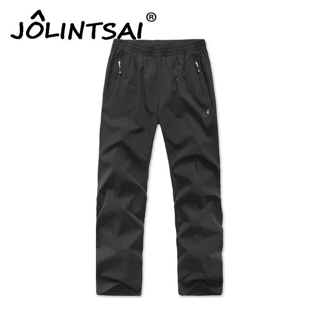 Nuevo 2017 Pantalones de Los Hombres Outwear Pantalones de Secado Rápido Secado Rápido Speed Dry Pant Para Hombre Sólido Pantalones Más El Tamaño 6XL