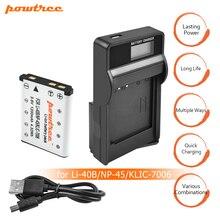 цена на 1X Li-40B LI-42B LI40B LI42B Batteries+LCD USB charger For Olympus For Nikon fuji NP-45 NP 45A 45B 45S EN-EL10 ENEL10 L15