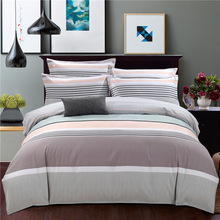 Simple twill abrasive bedding Four pieces set 1.8/2m thickened bed sheet down Quilt Bedding student Dormitory soft  Home textile