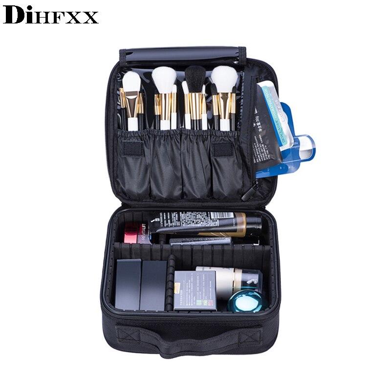 DIHFXX Neceser professionnel Vanity cosmétique sac organisateur femmes voyage maquillage étuis grande capacité cosmétiques valises pour le maquillage
