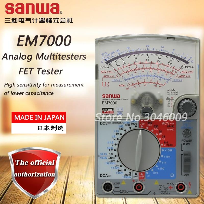Sanwa EM7000 Analogique Multitesters/FET Testeur De Haute sensibilité pour mesure de plus faible capacité