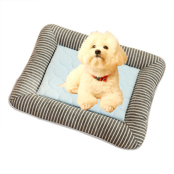 Transer Dog Bed Summer Pet Nest Dogs Cat Cold Sense Nest Kennel New Sofa Sleep Cushion Blue Car Nest Cama Perro 19June18 P30 image
