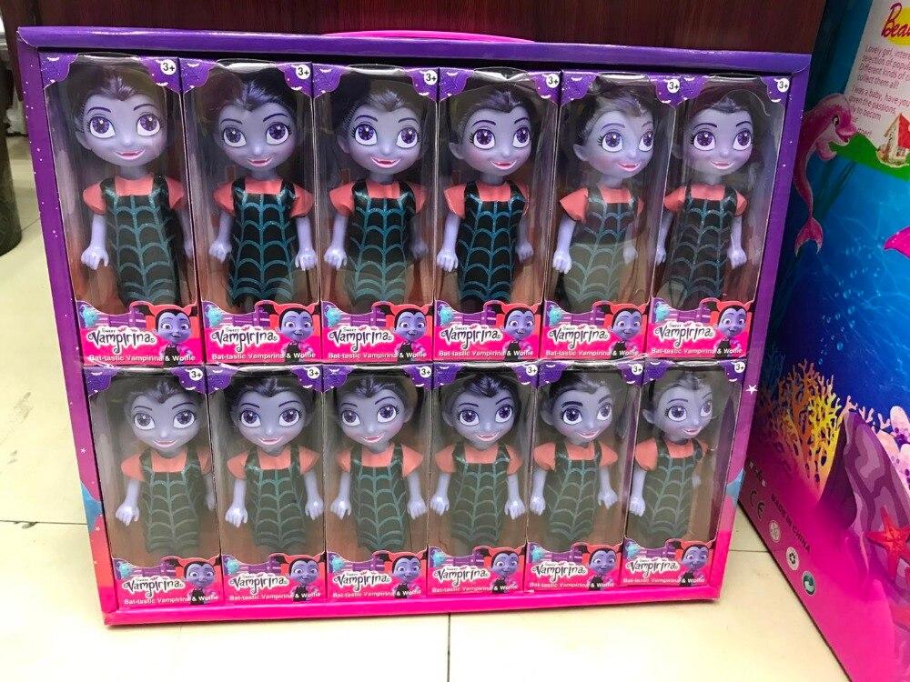 2018 NEW 18CM Moive Junior Vampirina The Vamp Batwoman Girl Action Toy Figure Childrens Toys Christmas Gift