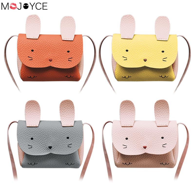 Children Handbag Kids Rabbit Mini  Shoulder Messenger Bag Baby Girls Coin Purse Shoulder Crossbody Bag Bolsa Feminina Sac A Main