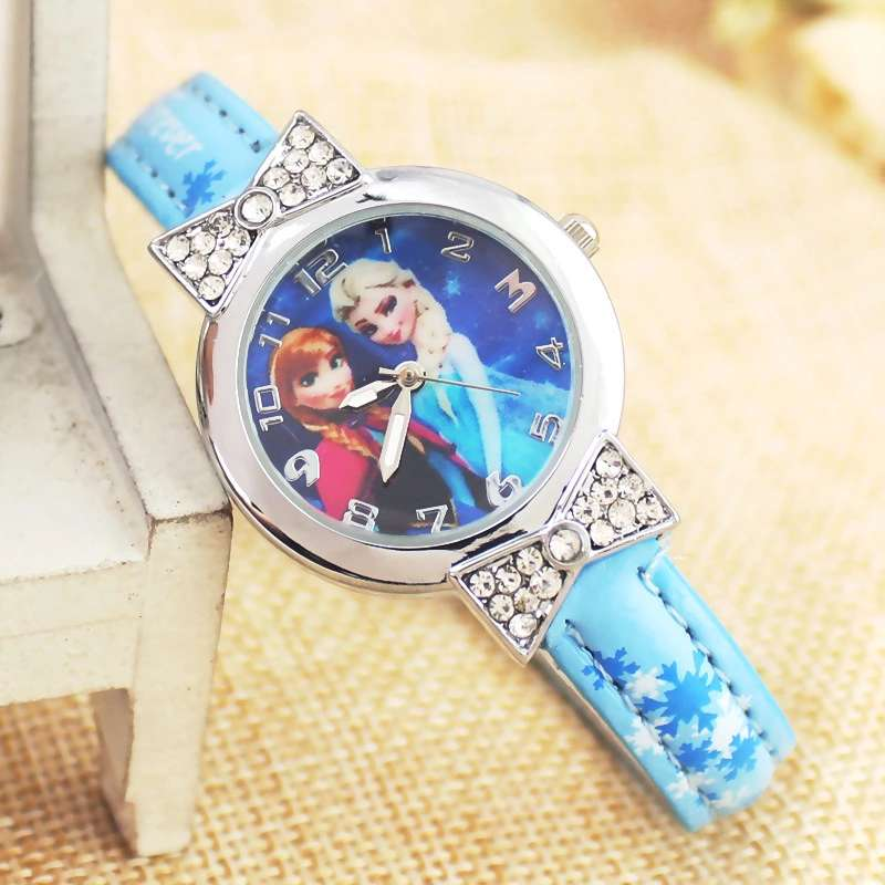 2019 Populor Snow And Ice Princess Aisha Anna Princess Child Girl Cartoon Watch Gifts For Girls