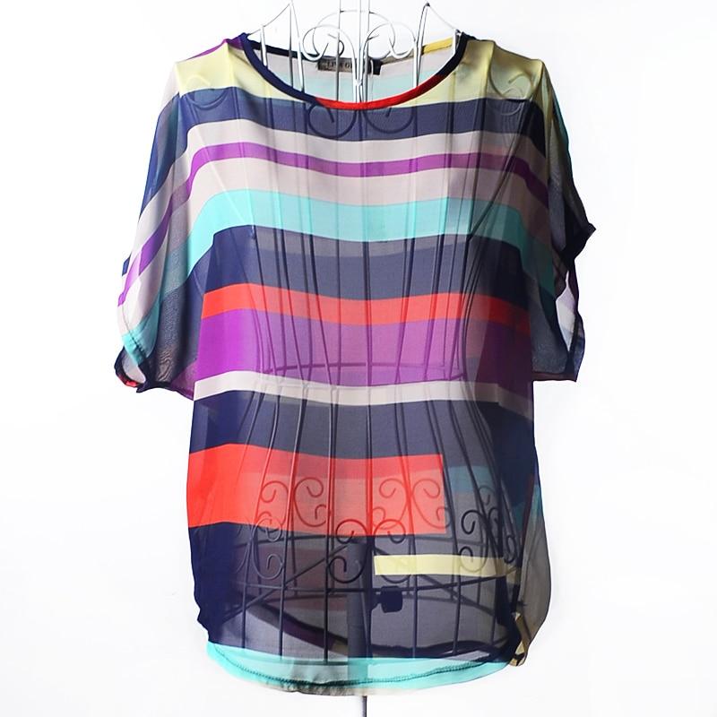 Կանանց նորաձևության գծավոր շիֆոն - Կանացի հագուստ - Լուսանկար 5