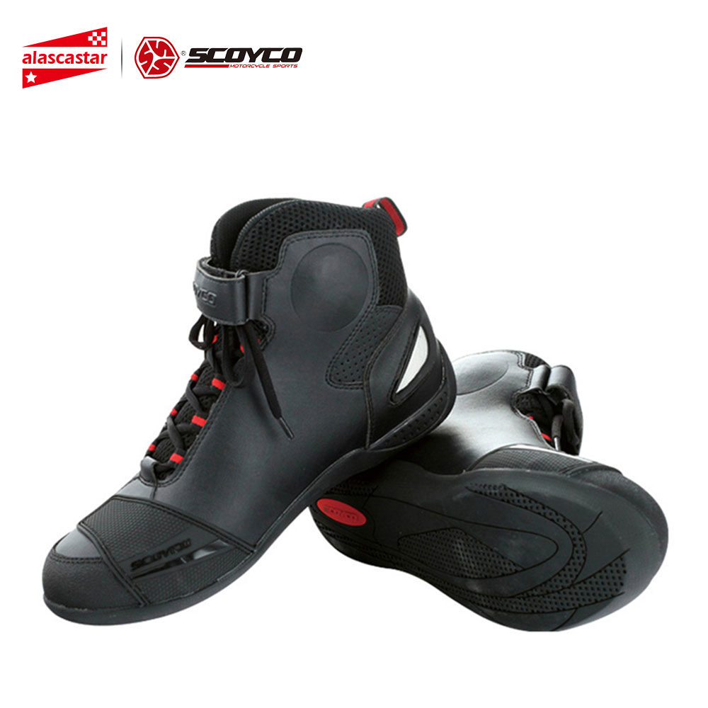 SCOYCO Motorcycle Boots Street Racing Ankle Boots Breathable Motorbike Touring Riding Boots Protective Gear Shoes MBT009SCOYCO Motorcycle Boots Street Racing Ankle Boots Breathable Motorbike Touring Riding Boots Protective Gear Shoes MBT009