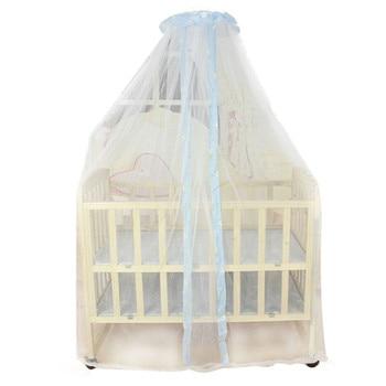 Cama de bebé de verano mosquitera Red de cortina de cúpula para bebé cuna dosel