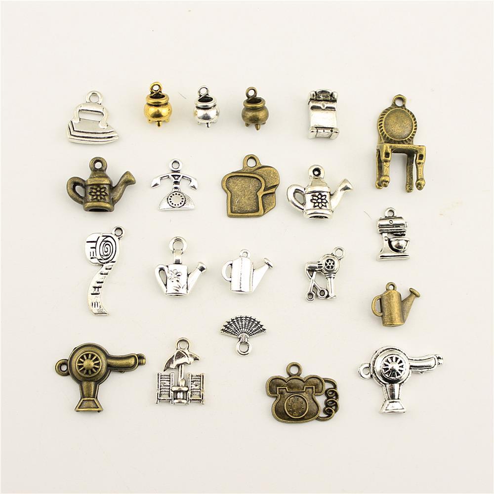10 pçs jóias do sexo feminino cadeira casa cesta telefone secador charme diy jóias acessórios charme diy acessórios