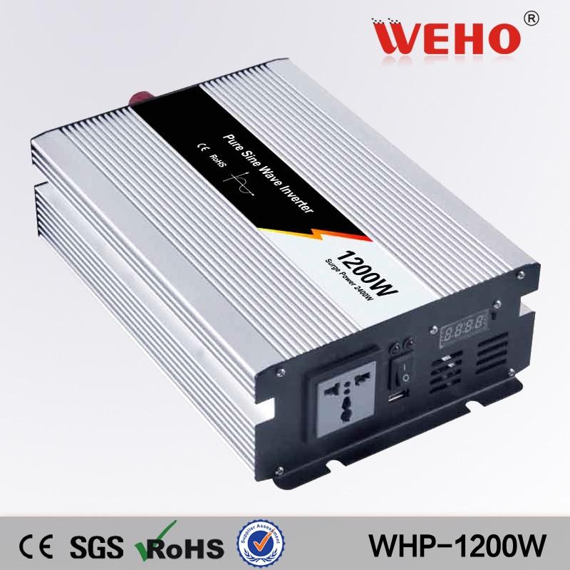 цена на (WHP1200-242)1200w pure sine wave power inverter 24vdc input/230vac output solar inverter