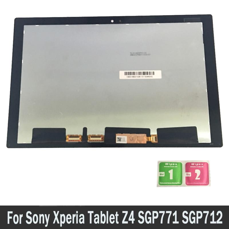 Nouveau Écran LCD Pour Sony Xperia Tablet Z4 SGP771 SGP712 Écran Tactile Digitizer Capteurs Panneau de Montage de Pièces De Rechange