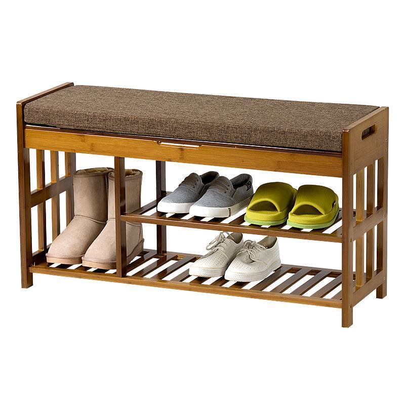 Change wooden simple modern sofa stool shoe rack door wearing shoes пуф wooden круглый белый