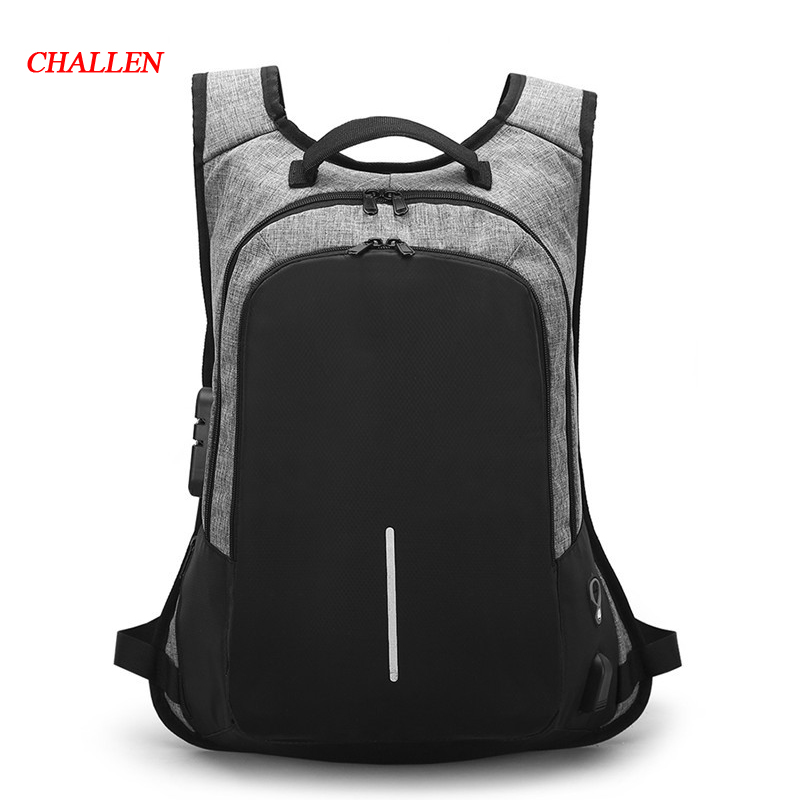 Male USB Business Anti theft Backpack For Men 15.6inch Laptop Backpack Mochila Fashion Travel Backpacks School Bags