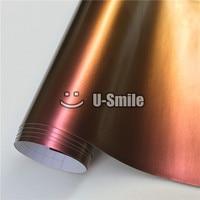 High Quality Purple Golden Chameleon Vinyl Wrap Film Bubble Free Vehicle Wraps Size:1.52M*30m/Roll