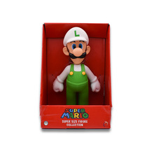 23 cm Anime Figura Super Mario Bros  Luigi White Hat PVC Action Figure Doll Collectible Model Baby Toy Christmas Gift For Kids