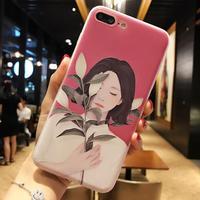 DOYAEL Cute Cartoon Flowers Case For Iphone 7 Case For Iphone7 7PLus Phone Cases Lovely Lily