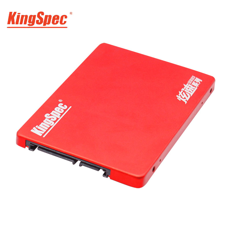 KingSpec SSD 120GB HDD 2.5 Inch SATA3 SSD Disco Internal SATA Schijf Drive Red Metal Case For Desktop Laptop Tablets