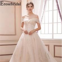 Erosebridal New Arrival 2019 Vintage Wedding Dress Lace Wedding Gown off the Shoulder Bride Dress Lace up vestido de noiva off the shoulder lace up dress