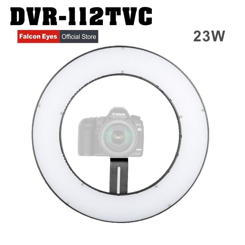 Falcon Eyes 23W 112 кольцевой светодиодный панельный светильник ing 3000 5600K с регулируемой яркостью для фото и видеосъемки студийной фотографии; непре