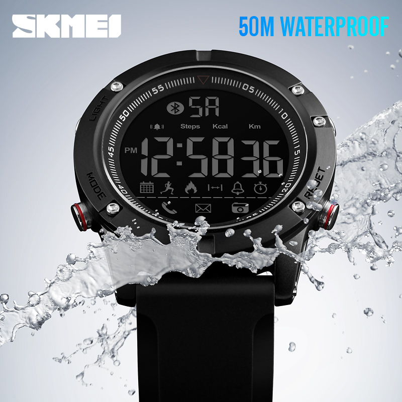 9e8f9036524 Relogio SKMEI Sports Bluetooth Smartwatches Fashion Smart Watch Men  Pedometer Calorie Remote Camera LED Digital Wristwatches