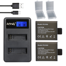 2x batteries + USB LCD Dual charger For SJCAM SJ4000 battery SJ5000 SJ6000 SJ8000 EKEN 4K H8 H9 GIT-LB101 GIT PG900 1050 battery