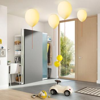 Modern LED Ceiling Light white Glass led E27 Children's Room Living Room Bedroom Balloon Ceiling Hanging Lamps