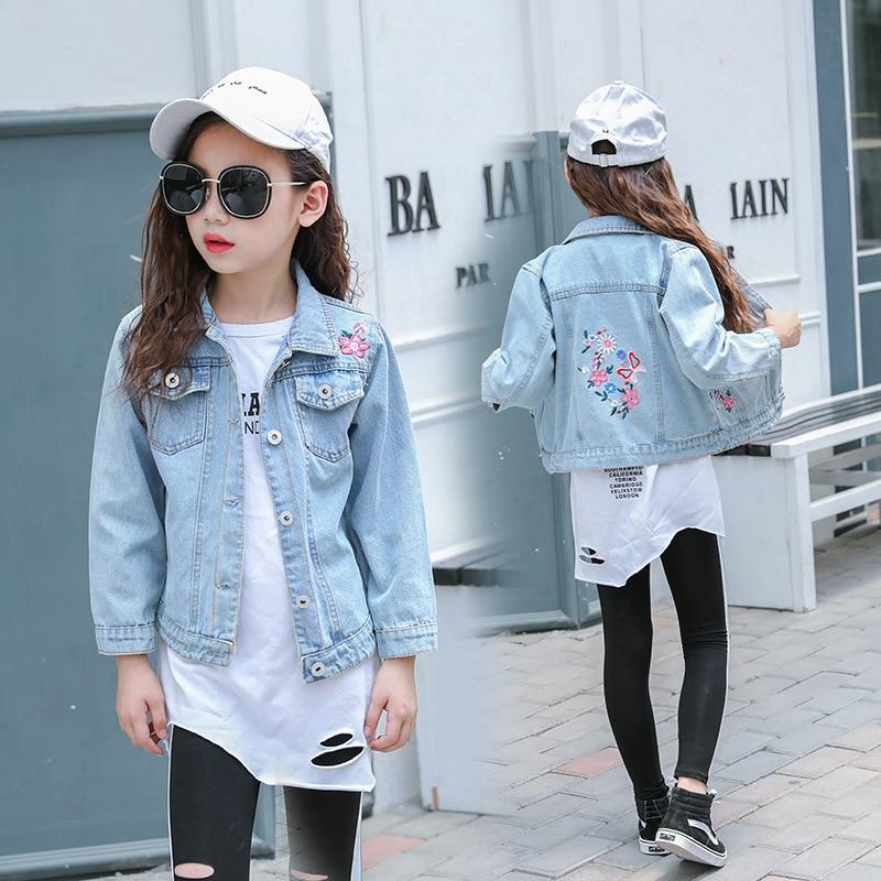 Women/' Colorful Butterfly Embroidered Jeans Jacket Denim Coats Boyfriend Outwear