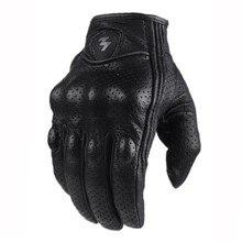 Профессиональные спортивные дышащие мотоциклетные перчатки черные кожаные Luvas De Motocicleta защита для мотокросса внедорожные перчатки