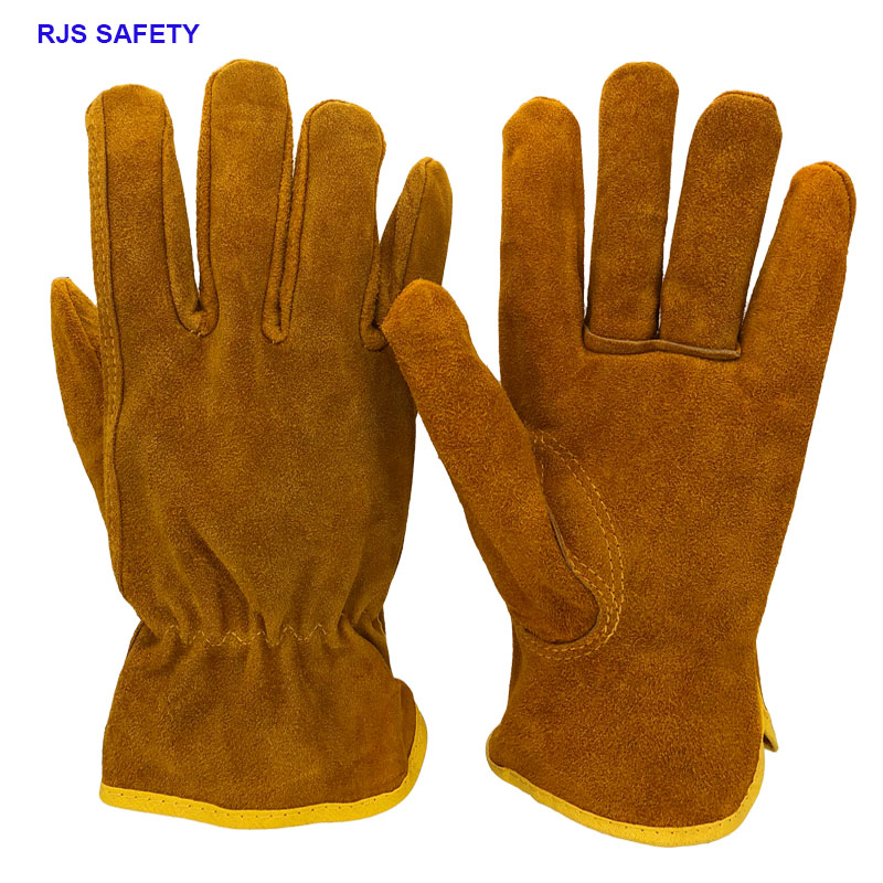 Men's Safety Work Gloves Cowhide Leather Working Welding Gloves Safety Protective Garden Sports MOTO Wear-resisting GlovesNG4015 50pcs disposable safety protective latex for home cleaning industria rubber long female kitchen wash dishes garden work gloves a