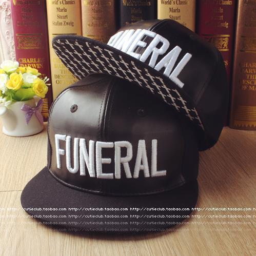 Fashion black leather baseball cap hip hop snapback caps funeral cap Korea  style outdoor snapback hats 3C83 abba0acfbf7
