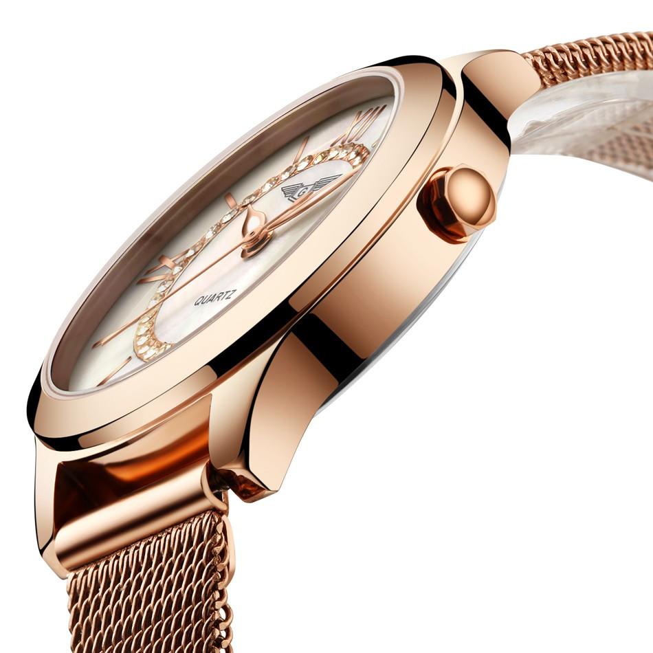 GUANQIN Women Watches Fashion Casual Quartz Watch Gold Women Bracelet Watch Stainless Steel Strap relogio feminino famous brand  (14)