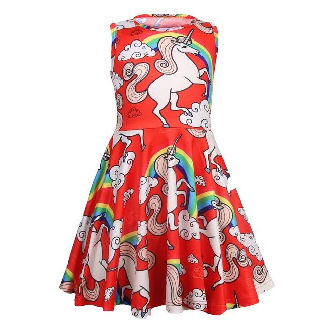 Nueva moda 2019 niños pequeños Cosplay disfraz bebé niña vestidos unicornio Lol vestido de fiesta elegante niños princesa Niñas Ropa