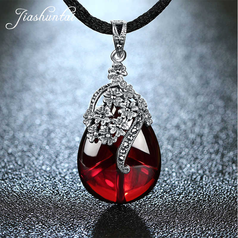 19aa0c890 Detail Feedback Questions about JIASHUNTAI Retro 925 Silver Sterling Royal Natural  Semi Precious Stones Pendant Necklace Jewelry For Women Vintage on ...