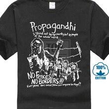 Propagandhi MenS No Borders Fences T Shirt Black