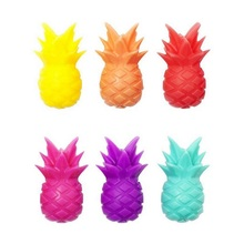 6pcs Silicone Fruit PINEAPPLE Wine Charms glass markers for Glasses, Universal Drink Markers with clip