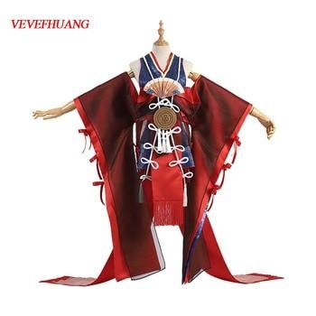 VEVEFHUANG Kосплей Game! Onmyoji Tamamo No Mae New Character Skin Gorgeous Kimono Dress Uniform Cosplay Costume Xmas Carnival 1