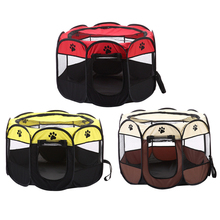 Portable Folding Pet Carrier Tent Dog Cat House Playpen Multi-functionable Cage Easy Operation Octagon Fence #4