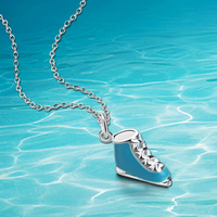 New Shelf 925 Sterling Silver Necklace Woman Jewelry Ice Skating Shoes Pendant Necklace Fashion Gifts Exquisite