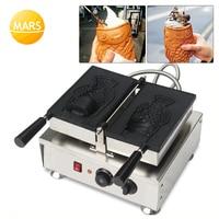 Mars öffnen mund eis taiyaki maschine große fisch kuchen  der maschine kegel maker street food ausrüstung-in Waffeleisen aus Haushaltsgeräte bei