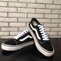 Европейский классический черный белые парусиновые туфли черные на платформе повседневная обувь