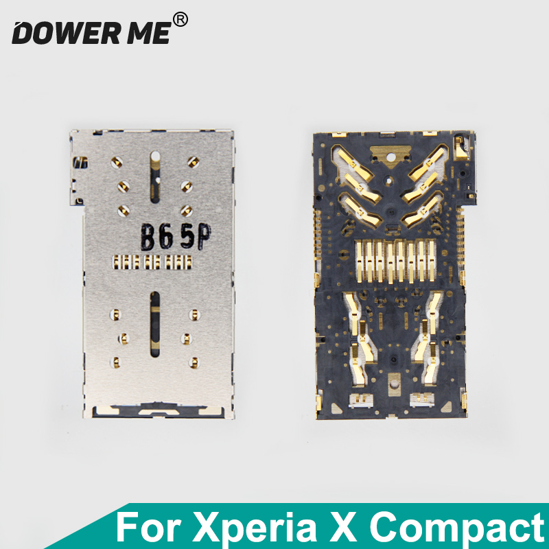 Dower Me Micro Sd Card+SIM Card Reader Holder Connector Slot For Sony Xperia X Compact XC F5321