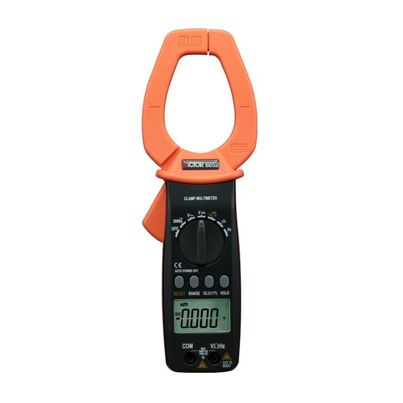 Digital Clamp Meter Clamp type multi-purpose table multimeter AC 2000A VICTOR 6052 VC6052 victor 6056d digital clamp meter